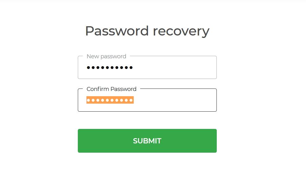 รีเซ็ตรหัสผ่านใน IQ Option