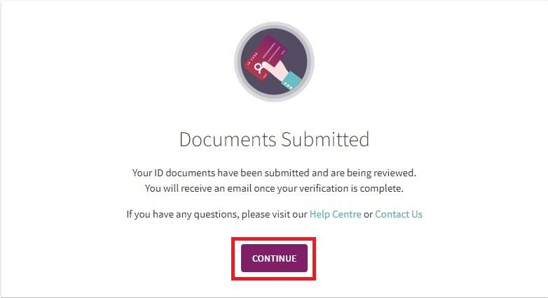 Konfirmasi dokumen Anda dikirimkan