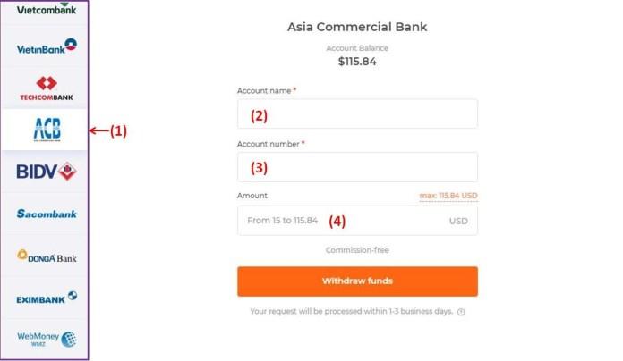 Penuhi informasi akun Internet Banking Anda